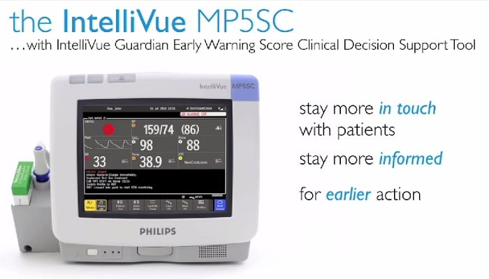 Decrease treatment delays with the IntelliVue MP5SC Monitor