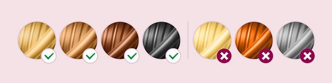 Подходящи цветове на космите